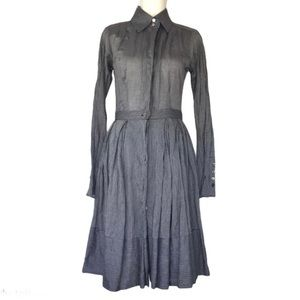 Charles Nolan Pleated Button Front Dress 4